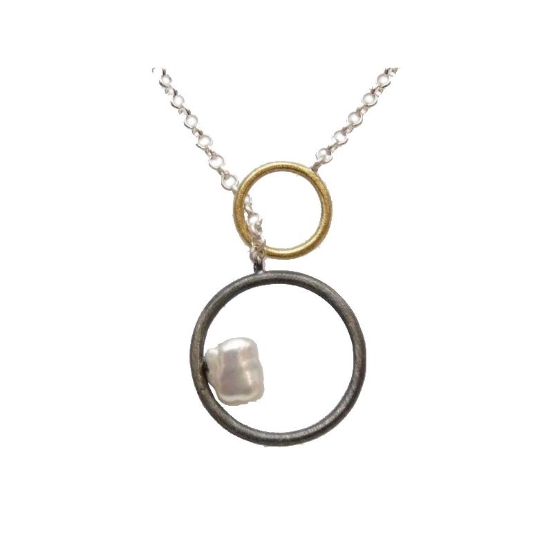 Penjoll de plata, or i perla