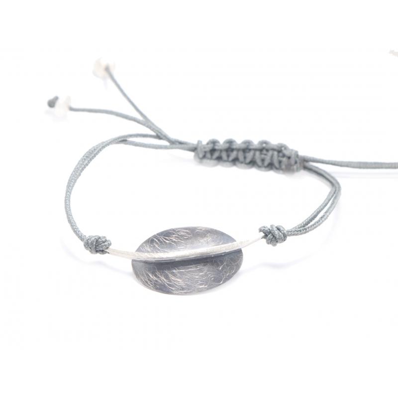 Pulsera plata  ennegrecida