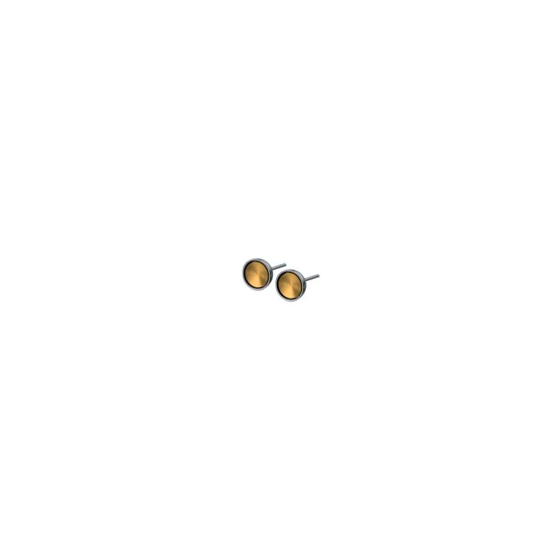 Pendientes acero dorados