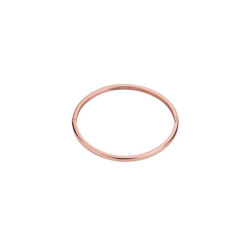 Pulsera acero y baño rosa