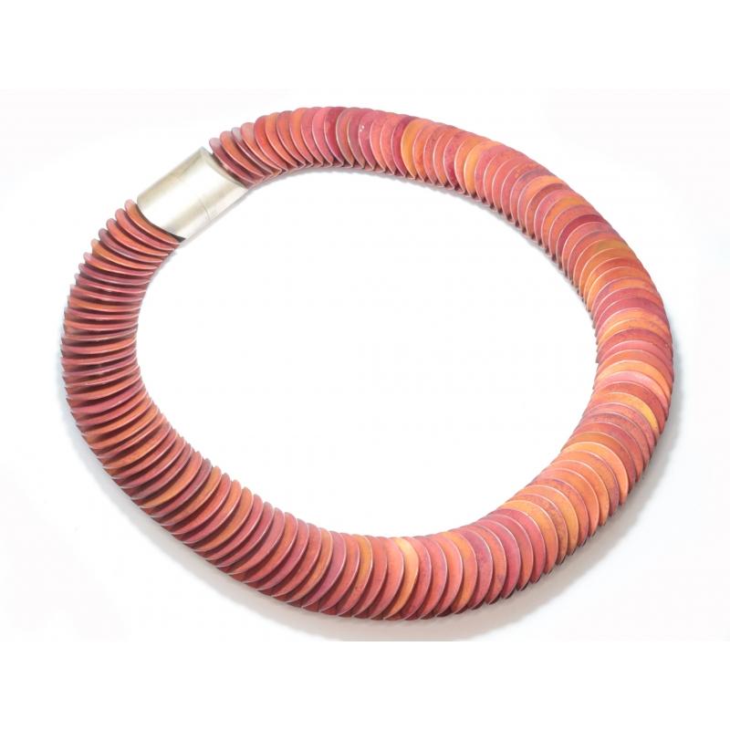 Collar de plata y cobre