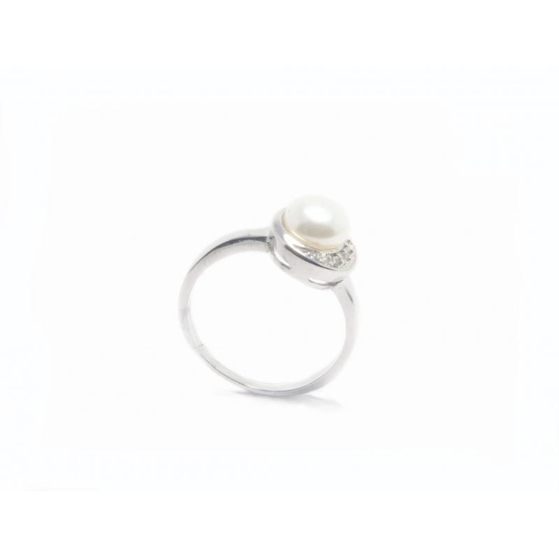 Anell plata, circonites i perla