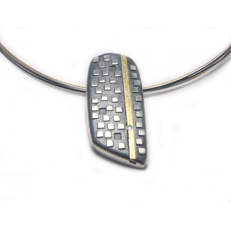 Penjoll plata, or i diamant